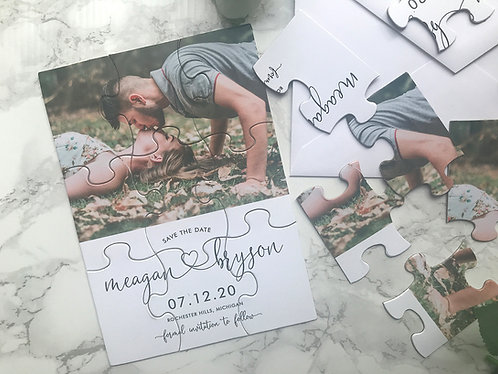 Custom Designed Puzzle Save the Dates