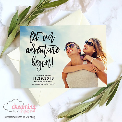 Let Our Adventure Begin Save the Date