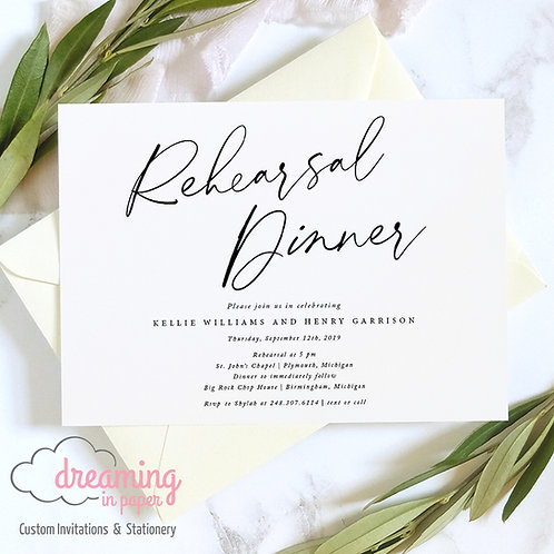 Blackstone Big Rehearsal Dinner Rehearsal Dinner Invitation