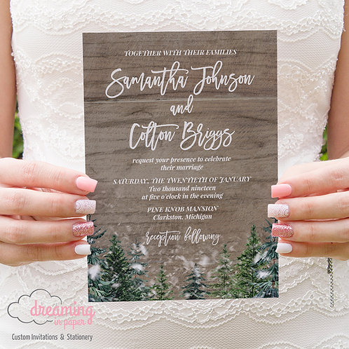 Rustic Winter Wedding Invitations Madina 193