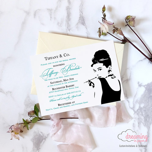 Breakfast at Tiffany's Tiffany Bridal Shower Invitation