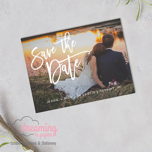 Bold Script Photo Save the Date Magnets