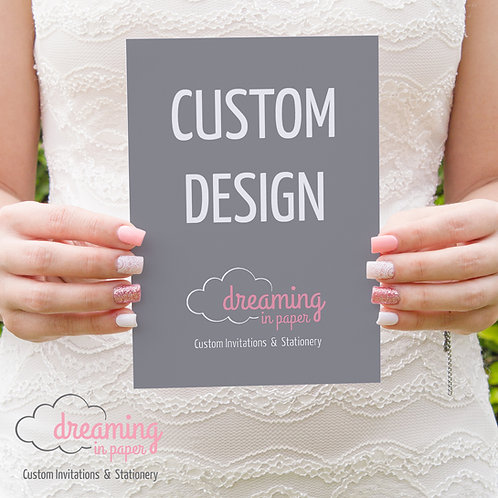 Custom Designed Bridal Shower Invitation
