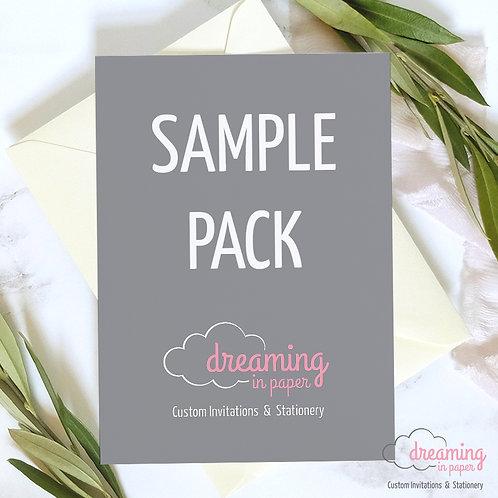 Laser Cut Pocket Invitation Sample Pack