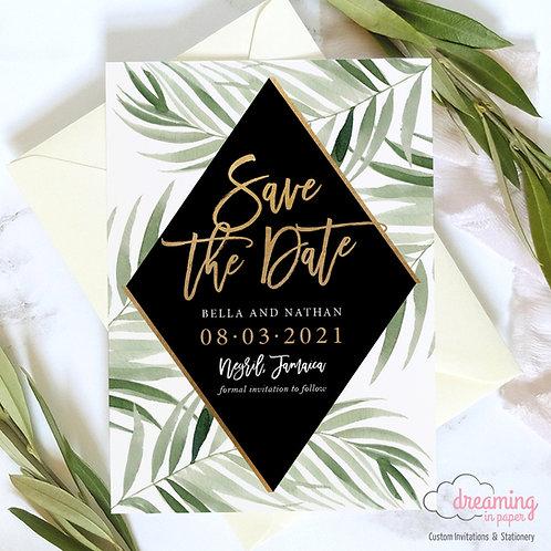 Tropical Safari Opia Gold Diamond Save the Dates Madina Black
