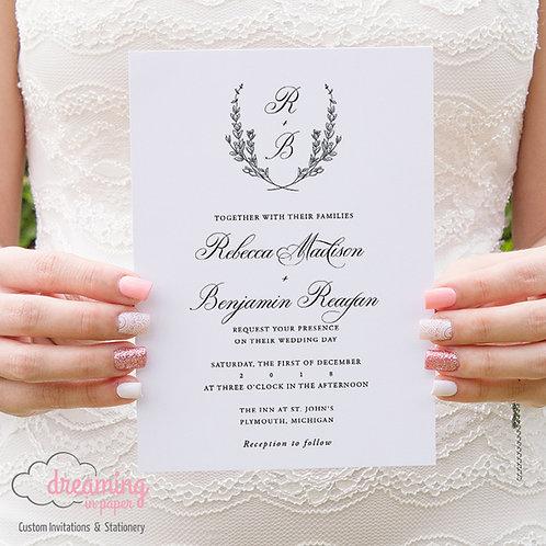 Laurel Crest Traditional Wedding Invitations