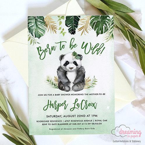 baby panda bear, panda bear baby shower, panda baby shower, tropical baby shower, jungle theme