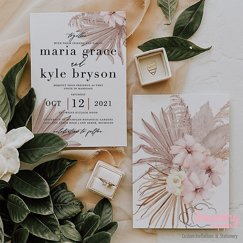 boho wedding invite, boho wedding, bohemian wedding, boho floral invite, wedding invitations, wedding invites, boho decor