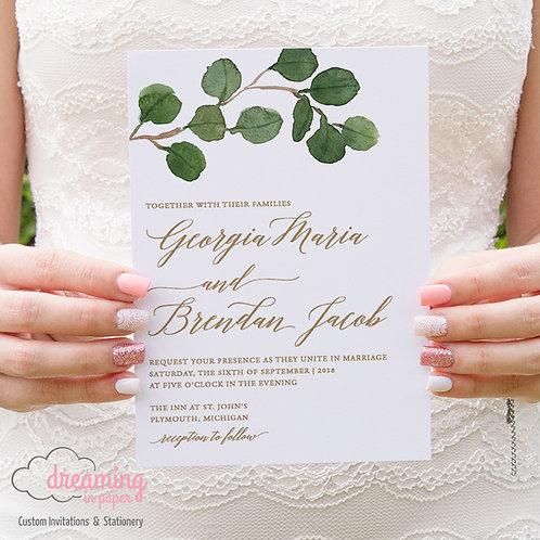 Greenery Modern Romantic Wedding Invitation Set