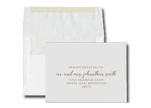 Outer Envelope Printing Services