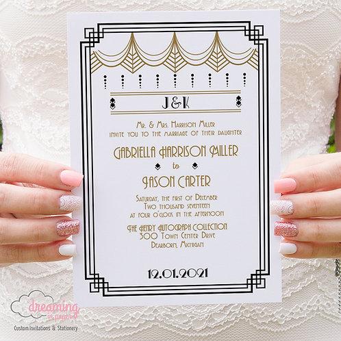 Gatsby Art Deco Wedding Invitations 007