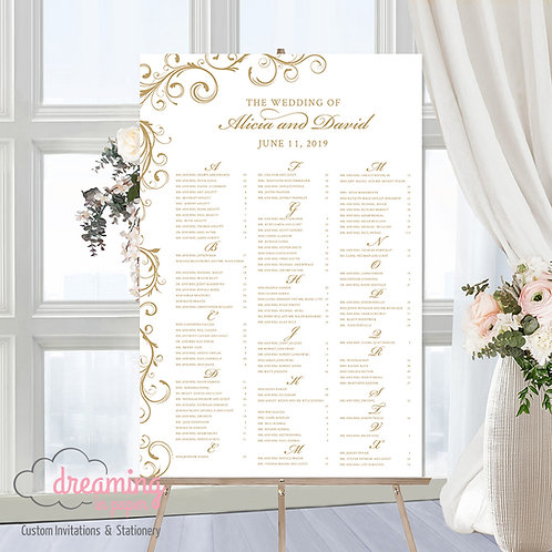 Elegant Swirls Seating Chart