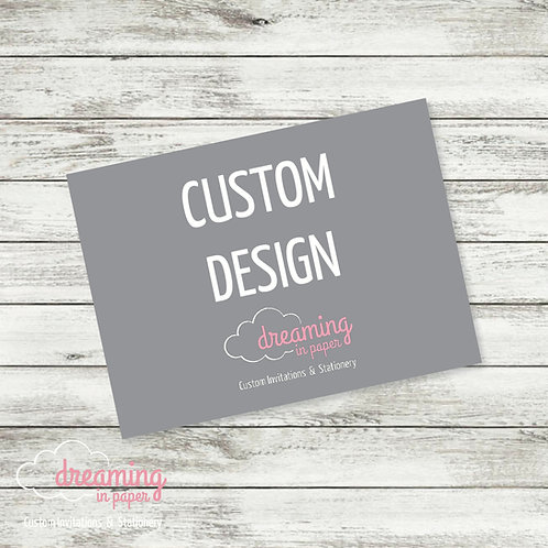 Oversized Custom Designed Enclosure Card