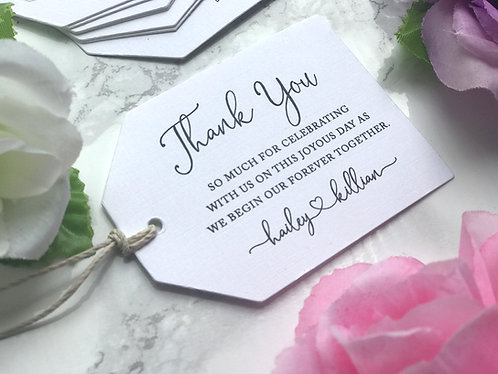 Favor Tags Coordinate with Any Invitation