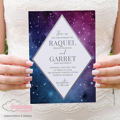 Diamond Galaxy Wedding Invitations