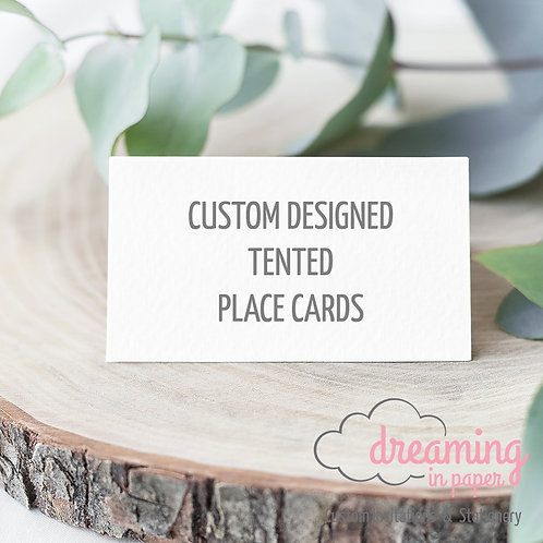 Custom Designed Tented Place Cards