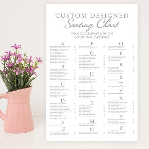 custom designed seating chart