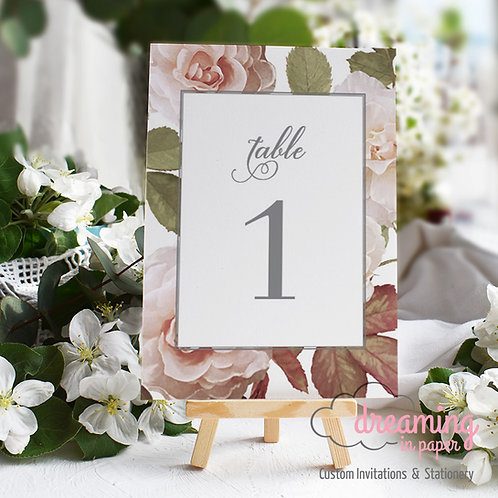 Antique Rose Table Numbers 102