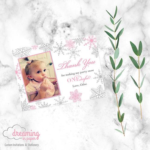 Snow Princess Thank You Card