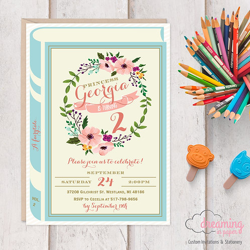 Fairytale Book Birthday Invitation
