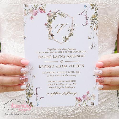 Bohemian Wildflower Wedding Invitations 376