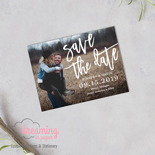 Bold Modern Photo Save the Date Magnets