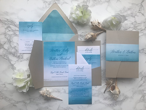 Sandy Beach Wedding Invitations