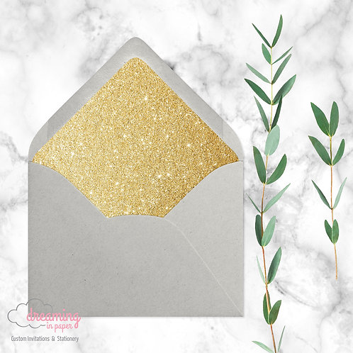 Glitter Euroflap Envelope Liners