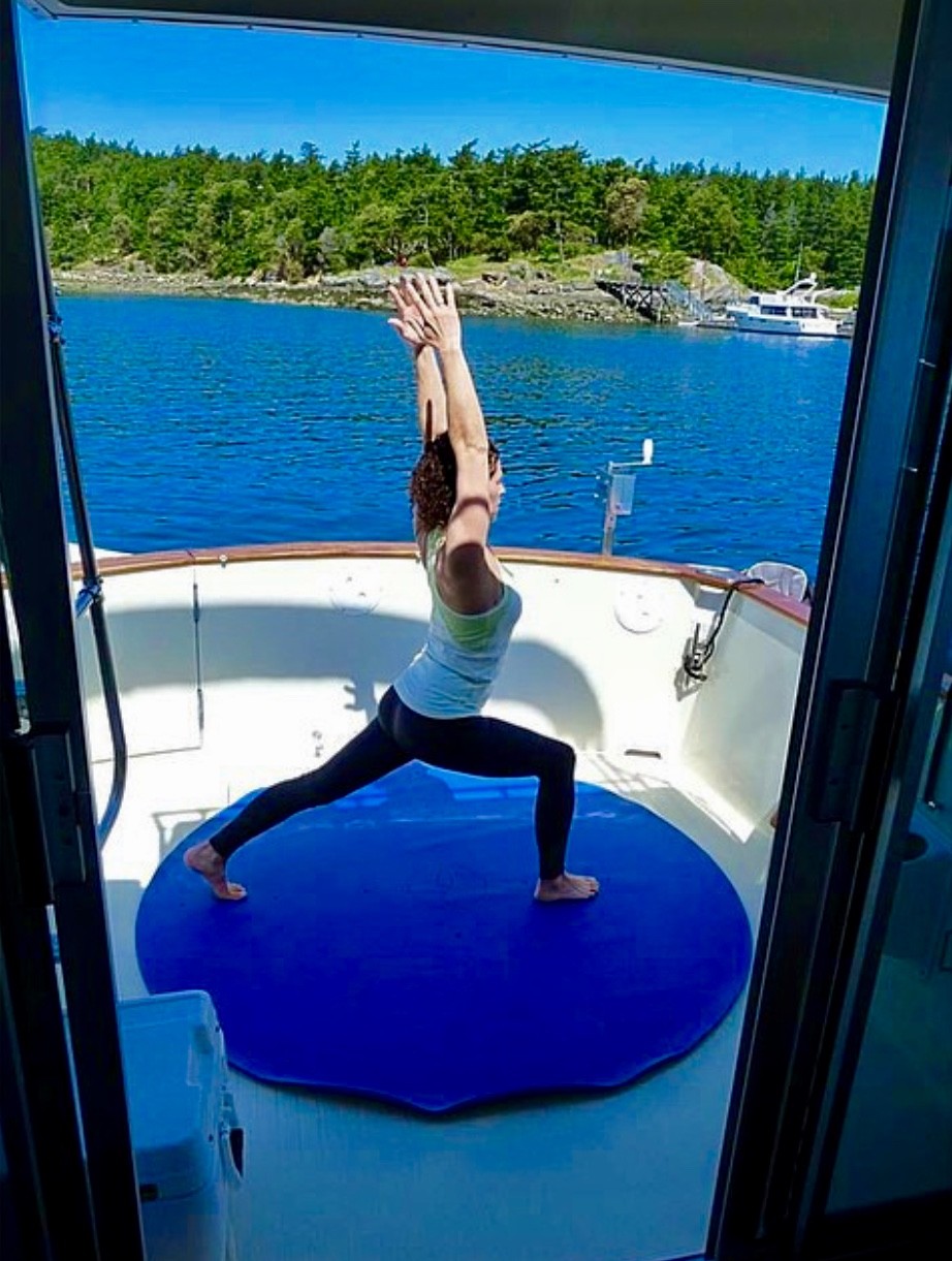 yoga on a boat