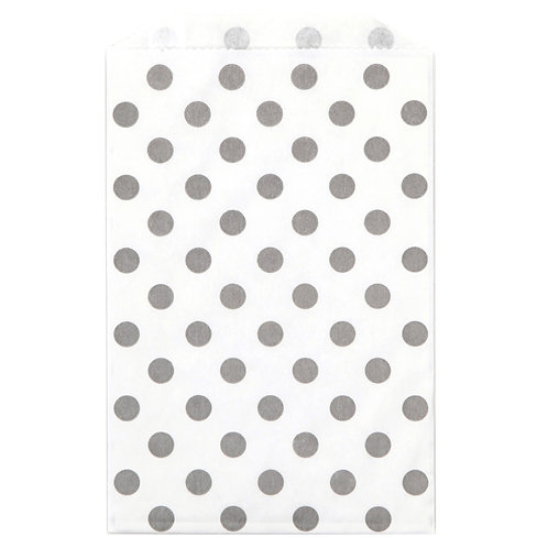 Gray Polka Dots Treat Bags