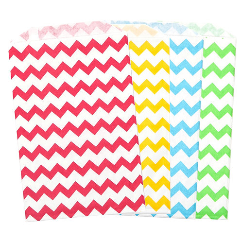 Unicorns + Rainbows Chevron Treat Bags
