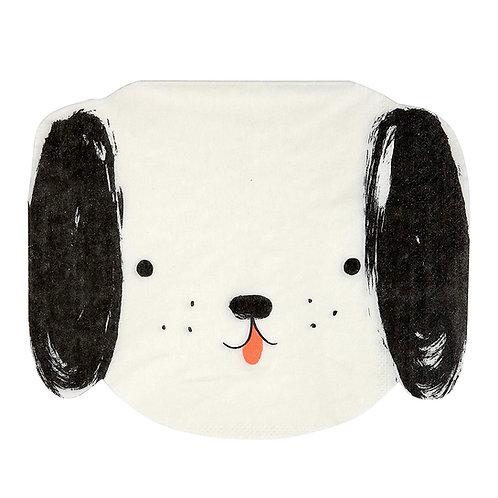 Black & White Dog Napkins