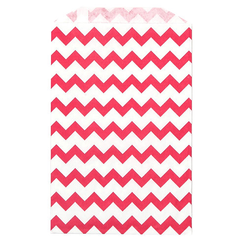 Red Chevron Treat Bags (12)