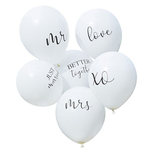 White Wedding Balloons Bundle