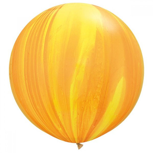 Yellow Orange Rainbow SuperAgate Balloon