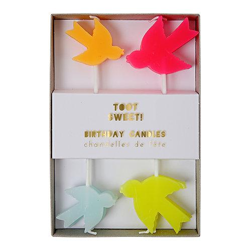 Toot Sweet Bird Candles