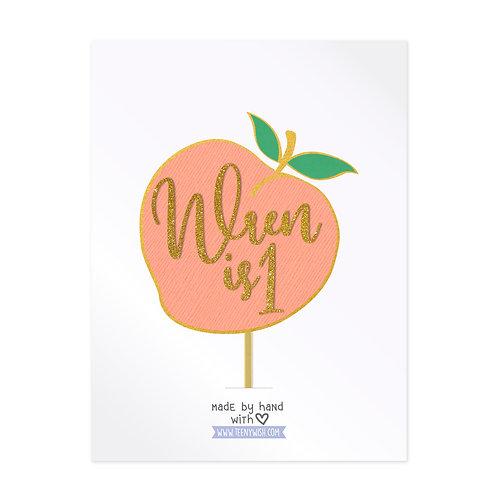 Peach Cake Topper