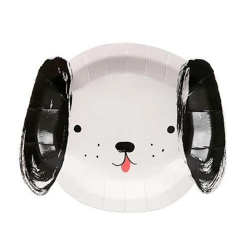 Black & White Dog Plates