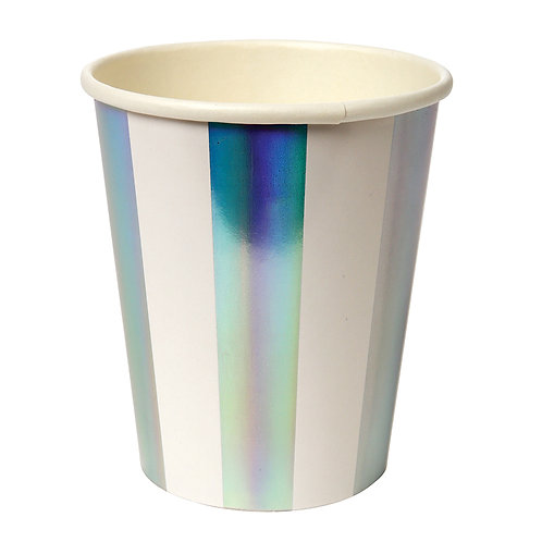 Holographic Silver Strip Cup
