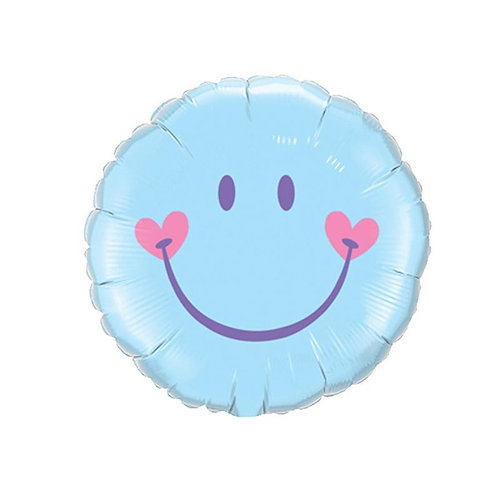 "18"" Sweet Smile Face - Blue"