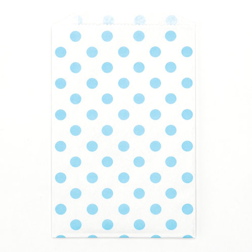 Light Blue Polka Dots Party Bags