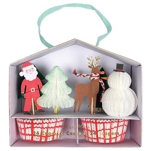 Santa Scene Cupcake Kit