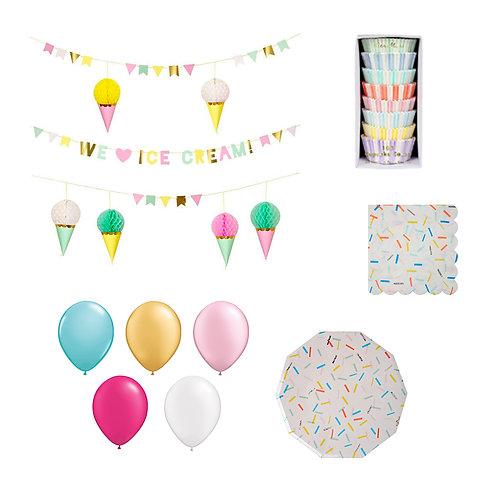 Ice Cream + Sprinkles Party Set