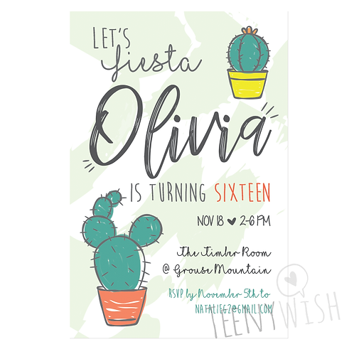 Cactus Fun Digital Invitation