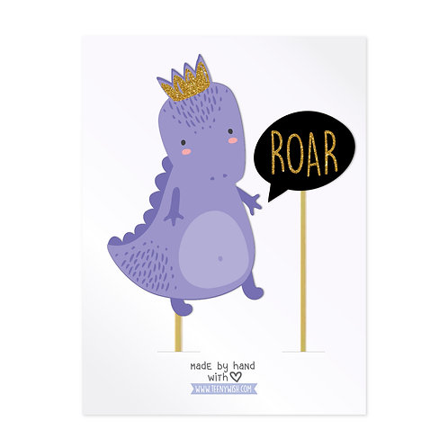 Dino Roar Cake Toppers