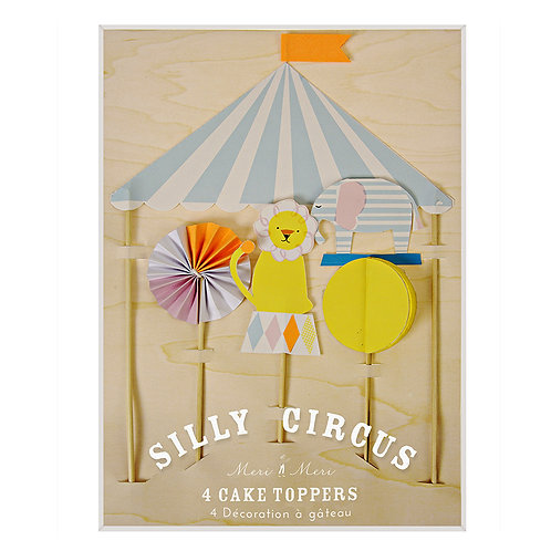 Silly Circus Cake Toppers