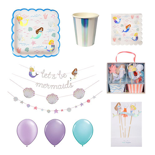 Let's be Mermaids Party Set