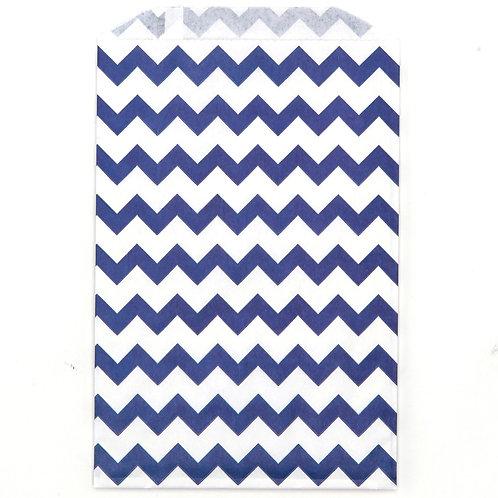 Blue Chevron Party Bags