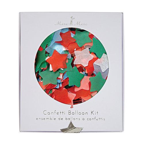 Star Confetti Christmas Balloon Kit
