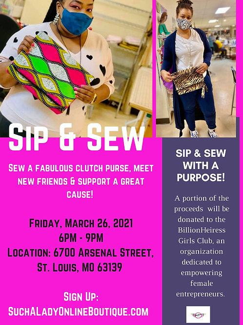 Women's History Month Sip & Sew